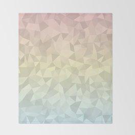 Pastel Ombre 4 Throw Blanket