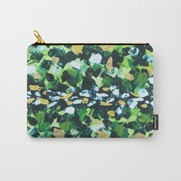 Colorful Green Abstract Painting Carry-All Pouch