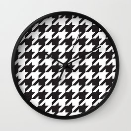 Houndstooth (Black and White) Wall Clock