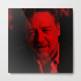 Russell Crowe - Celebrity (Photographic Art) Metal Print