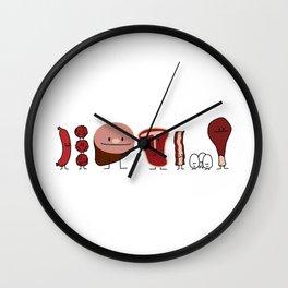 Happy Meat Family Wall Clock