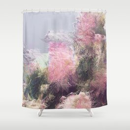 Wild Roses in Motion - Glitch Shower Curtain
