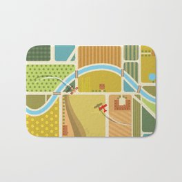 from above in the skies of Picardy Bath Mat