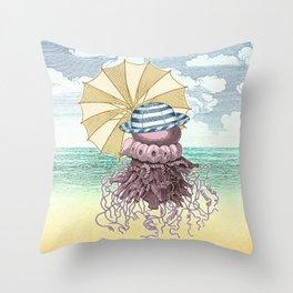 Summer Promenade Throw Pillow