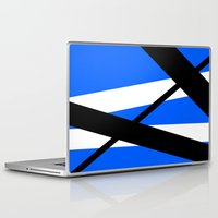 bands Laptop & iPad Skins featuring Bands 1 Retro stripes by Brian Raggatt