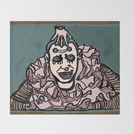 Profoundly Insane Clown Throw Blanket