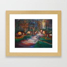Cob house Framed Art Print