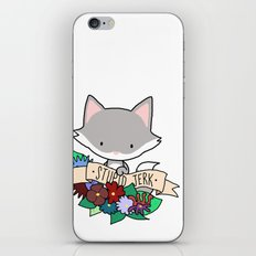 Grey Cat, STUPID JERK! iPhone & iPod Skin