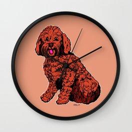 Labradoodle Illustration Wall Clock