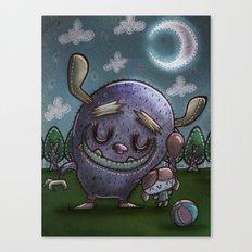 Monster friend Canvas Print