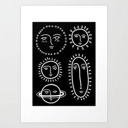 Cranky Planets Print Art Print