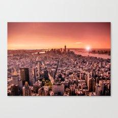 Manhattan in red Canvas Print