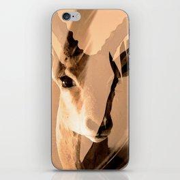 Beautiful and fast - Impala portrait iPhone Skin