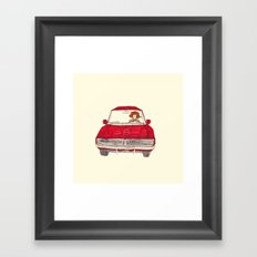 oh yeah today i got my driver's license! Framed Art Print