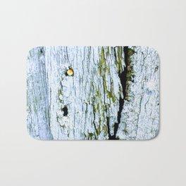 Weathered Barn Wall Wood Texture Bath Mat