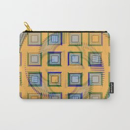 Golden Print Abstract Design Carry-All Pouch
