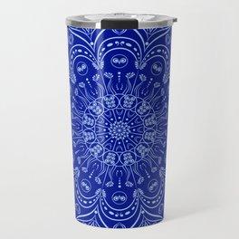 Blue Boho Mandala Travel Mug