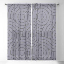 Circle Swirl Pattern Purple, Inspired By Mystical Purple - Metropolis Lilac - Dried Lilacs Sheer Curtain