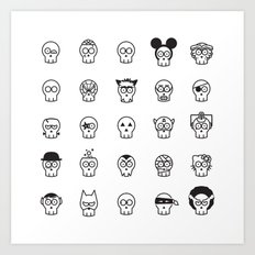Halloween Skulls Art Print