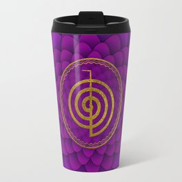 Gold Choku Rei Symbol on lotus Travel Mug