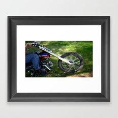Spinning Chrome Framed Art Print