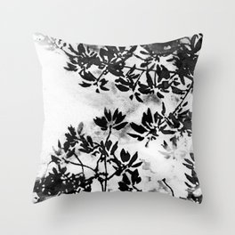 Contrast Botanical Throw Pillow