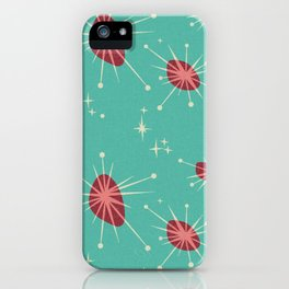 Cosmic Atomic in Turquoise iPhone Case
