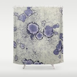 Blue Stained Shower Curtain