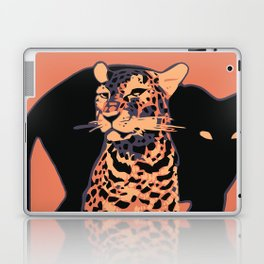Retro vintage Munich Zoo big cats Laptop & iPad Skin