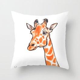Nitro the Giraffe Throw Pillow