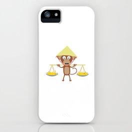 Vietnamese monkey iPhone Case