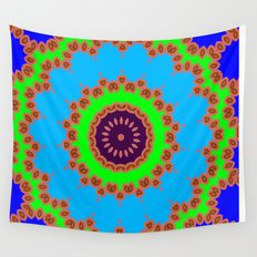 Lovely Healing Mandalas in Brilliant Colors: Royal Blue, Green, Light Blue, Orange, Maroon and Pink Wall Tapestry