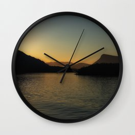 Island Sunset Wall Clock