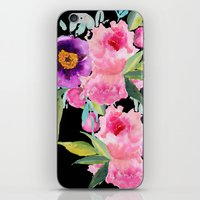 craftberrybush iPhone & iPod Skins featuring Floral white  by craftberrybush