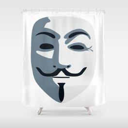Anonymous Mask #society6 #decor #buyart #artprint Shower Curtain