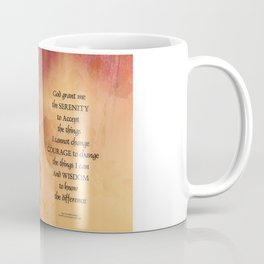 Serenity Prayer Quince and Fence One Coffee Mug