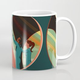 THE VOLCANO OF MARS - Olympus Mons | Space | X | Retro | Vintage | Futurism | Sci-Fi Coffee Mug