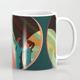 THE VOLCANO OF MARS - Olympus Mons | Space | X | Retro | Vintage | Futurism | Sci-Fi Coffee Mug