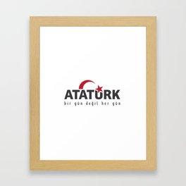 ataturk Framed Art Print