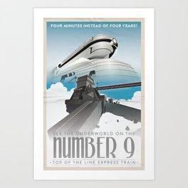 Grim Fandango Vintage Travel Posters - The Number Nine Art Print