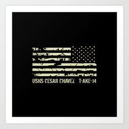 USNS Cesar Chavez Art Print