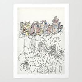 NYC buildings Art Print