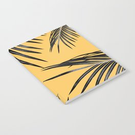 Black Palm Leaves Dream #6 #tropical #decor #art #society6 Notebook
