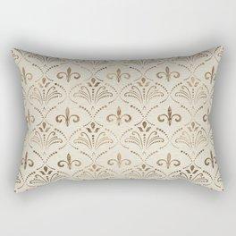 Elegant Fleur-de-lis pattern - pastel gold Rectangular Pillow