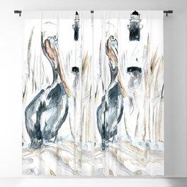 Tybee Island Pelican Blackout Curtain