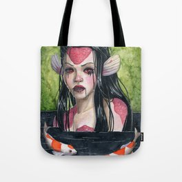 Lady In Mourning Tote Bag