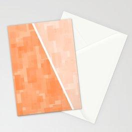 Orange and Lt Beige Rectangles Stationery Cards