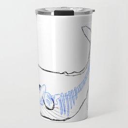 Whale Skeleton - Original Pen Ink Sketch Travel Mug