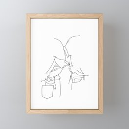 Fashion illustration line drawing - Tessa Framed Mini Art Print