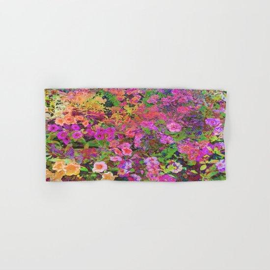 Rainbow Floral Landscape Hand & Bath Towel